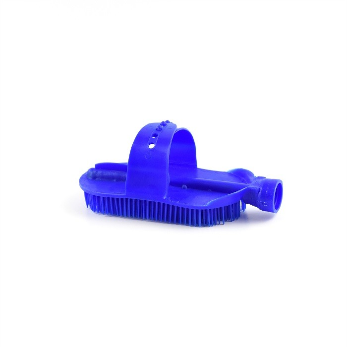 Blue Horse Grooming Curry Comb , Plastic Curry Comb With Hose Attachment